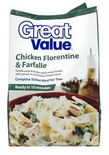 Walmart Great Value Chicken Florentine